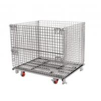 Quality Bright Surface 50x50 Collapsible Wire Container / Wire Storage Cages for sale