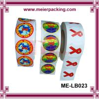 Custom self-adhesive printing roll sticker/Printed labels colorful print vinyl sticker ME-LB023