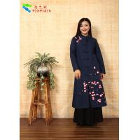 Quality Soft Embroidered Winter Coats , Chinese Garment Jacquard Cotton Trench Coat for sale