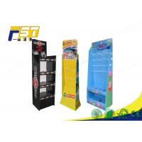 China Peg Hook Cardboard POP Displays Free Standing Gloss / Matte Lamination SGS Approval on sale