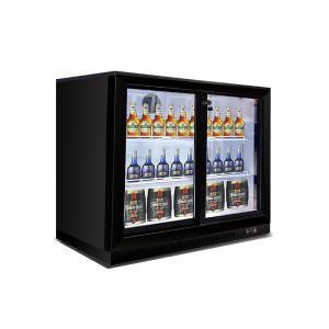 Quality 2 Doors Counter Top Beverage Fridge Beer Display Cooler Refrigerator Under Back Bar Beer Cooler for sale