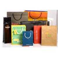 Quality Recyclable Customized Paper Bags Full Color Printing Kraft With Handles for sale