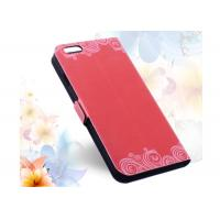 Quality Red Printing Slim iPhone 6 Wallet Cases, Stand Function Leather Pouch for iPhone 6 4.7 inch for sale