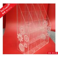 Quality Floral Engraved Acrylic Display Holder Custom Design Clear Riser for sale