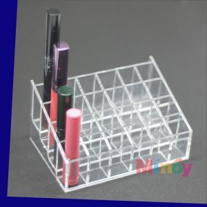 China Acrylic Lipstick Display Stand Holder Racks Comestics Display Organizer makeup holder on sale