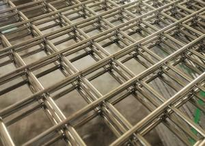Quality 304 316  Rust Proof/3mm Wire 50x50mm Hole/Silver Stainless Steel Welded Wire Mesh Panel for sale