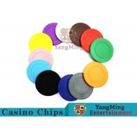 Roulette Dedicated Solid Color Plastic Poker ChipsWith Customized Print Logo