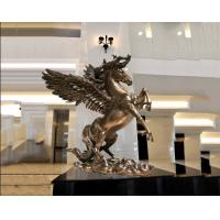 Quality Surface Painted Antique Bronze Statue , Indoor Metal Sculptures Hotel Decoration for sale