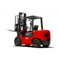Quality 3 Ton JAC Diesel Forklift Truck Lift Height 3M - 6M Isuzu Engine Red Color for sale