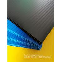 Quality 8mm and 10mm thick black/ blue/ green colors double layer PP corrugated plastic sheet for divider backing plate for sale