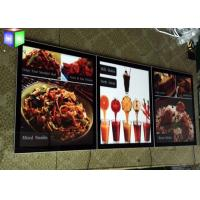 Quality Advertising Acrylic LED Menu Board Light Box Display Ultra Slim With Magnetic for sale