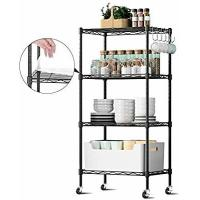Quality Durable  Commercial Wire Shelving Unit Restaurant Organizers 5 Tier Metal Storage Rack for sale