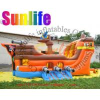 Quality inflatable small digital printing 0.55mm pvc tarpaulin pirate slide for sale