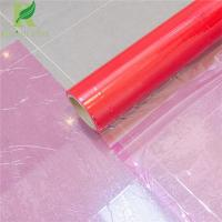 Quality 0.03-0.20mm Red Clear Adhesive Protective Plastic Film for Hard Surfaces for sale