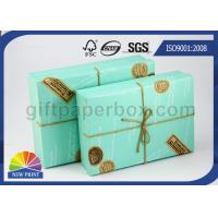Buy cheap Custom Logo Printed Paper Boxes with Lids , Rectangle Hard Cover Decorative Box for Wedding Gift from Wholesalers
