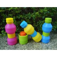 Quality Travel Durable Reusable With Leak -  proof Lid Foldable Silicone Drinking Bottle for sale