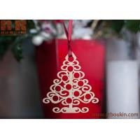 China Wooden Christmas tree Set of 6 wooden Christmas tree toy plywood Christmas gifts Tags on sale