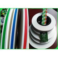 Quality Food Grade Stripe Printed Straw Paper Slitted Small Rolls For Drink Straws for sale