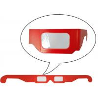 China Anaglyphic Paper 3D Glasses , Disposable Red 3d Monitor Glasses 400*37mm Size on sale
