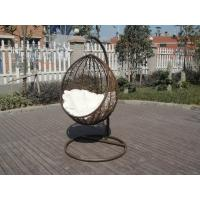 Quality PE Rattan Swing Chair , Garden / Balcony Glider With White Cushion for sale