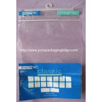 China Advertisement Recyclable Plastic Bags With Hangers Customized on sale