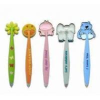 Quality soft PVC ballpoint pen with magnet for sale