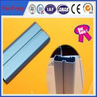China 6063 T5 anodized aluminum blue flat bar / aluminium bar price per kg,  led light alu bar on sale