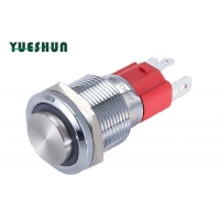 Quality 12V 220v Yellow Led Lamp Illuminated Momentary Push Button Switch for sale