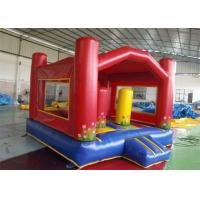 China ODM Red Outdoor Games Inflatable Blow Up House Bouncer With Raincover on sale