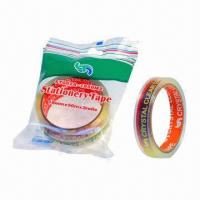 China Crystal Clear BOPP Stationery Tape with Polybag Packaging, Measures 18mm x 20m on sale