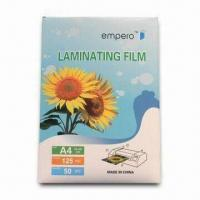 Quality Water-resistant PET and EVA Laminating Pouch Film with Clear and Anti-static Features for sale