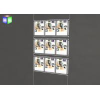 Quality Two Sided Wall Mounted LED Light Window Displays For Estate Agents for sale