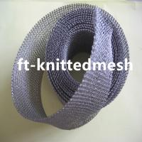China Copper Knitted Mesh with Flatten and Ginning Type/Soft and Safety Knitted Copper Cleaning Mesh on sale