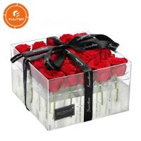 Quality Luxury transparent plastic flower gift box high quality transparent gift box for sale