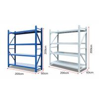 Quality Durable 4 Layers Light Duty Racking , Warehouse Storage Racks High Capacity for sale