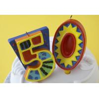 Buy 100% Handmade 50th Number Birthday Candles With Colorful Paintings No Virus at wholesale prices