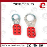 Quality OEM Six Holes Capacity Lock Shackle Steel Hasp with Tagout Lockout for sale