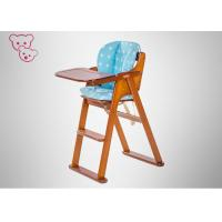 Quality Natural Color Infant High Chair Daycare Contoured Seat Three Footrest Settings for sale