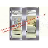 Quality Galvanized Steel Fireproof Aluminum Frame Glass Double Doors For Shopping Mall for sale
