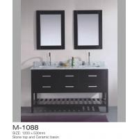 Quality Double Mirrors MDF Bathroom Vanity , Vanity Dresser With Drawers American Style for sale