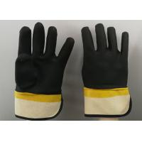 Quality Fine Sandy Finish PVC Coated Gloves Handling Abrasive Materials Liquid Proof for sale
