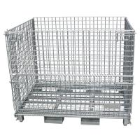 Quality Wire Mesh Container  , Wire mesh cage with cover, metal wire basket with lids, galvanized wire mesh cage with mesh cover for sale