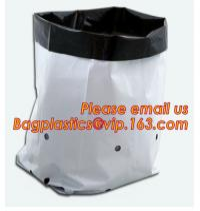 Quality 5gallon Plastic nursery bag for growing and seedling,polyethylene black grow bags plastic plant pot seeding nursery bags for sale