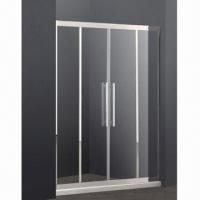 Quality Stainless steel framed sliding shower door with 8mm clear tempered glass for sale