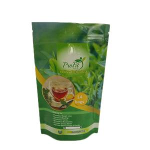 China Custom Print Resealable Glossy Finish Tea Bags Packaging on sale