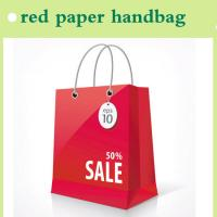 Quality 2015 red paper handbag for shopping fashion style made in China for sale