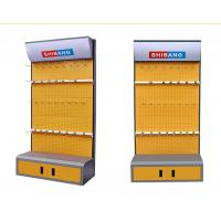 Quality Disassemble Supermarket Display Shelving Metal Tool Rack With Convenient Cabinet for sale