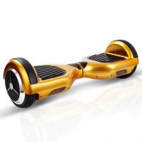 Quality Golden Rechargeable Battery Powered Mini Segway Scooter , Electric Drifting Scooter Hover Board for sale