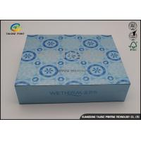 Quality Blue UV Coating Cardboard Packing Boxes / Decorative Paper Boxes for sale
