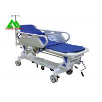 Quality Hospital Electric Emergency Ambulance Stretcher Bed Trolley Height Adjustable for sale